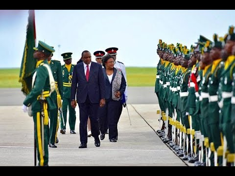 President Uhuru visits the eastern Caribbean Island nation of Barbados for a two day State visit