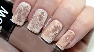 Fall Nails Art Designs 2014 | DIY Starbucks Coffee Nails | No Water Marble Technique