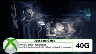 "Payday 2 - ""Guessing Game"" (Achievement/Trophy) - Full Guide (Solo)(Detailed)"