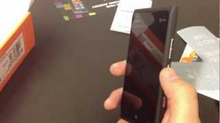 Nokia Lumia 900 Unboxing and first impressions.