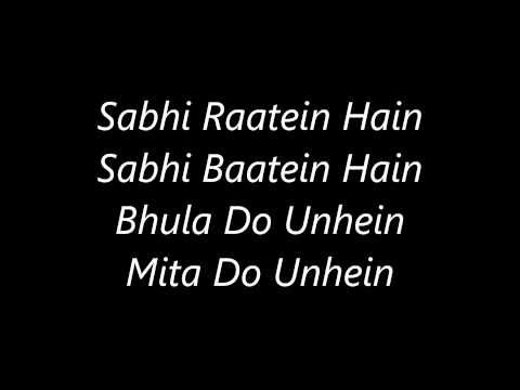 Atif Aslam's Aadat's Lyrics video