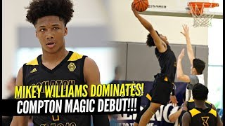 Mikey Williams DOMINATES In 1st AAU Game w/ Compton Magic!!! SAUCES Defender & Blows A Kiss!!
