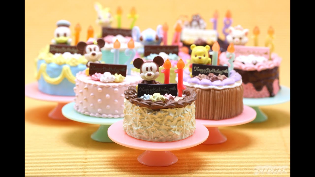 Re Ment Disney Character Happy Birthday Cake 迪士尼卡通人物快樂生日