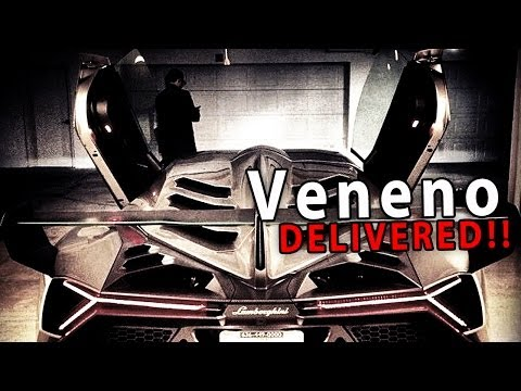 $4 MILLION LAMBORGHINI VENENO DELIVERED!!