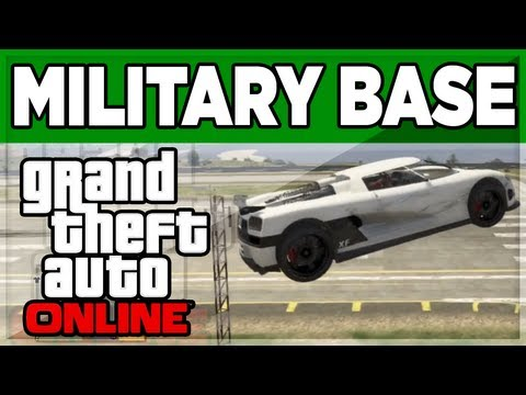 GTA 5 ONLINE - How To Enter The Military Base