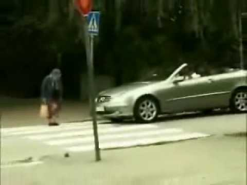 Car Accident (old lady) Funny Video