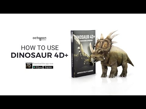 How To Use Dinosaur 4D+ Augmented Reality Flashcards | Octagon Studio