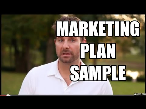 Marketing Plan Sample - 5 Simple Steps To Market Any Business video