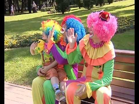 Клоуны Шлёпа, Клёпа и Сёма на СТВ. www.clowns.by, www.magician.by