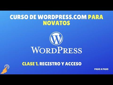 Curso Wordpress.com Novatos: Clase 1: Cómo crear web/blog