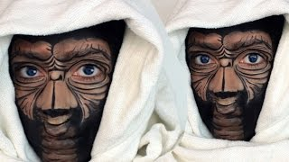 Halloween Makeup: E.T Extra Terrestrial Makeup Tutorial
