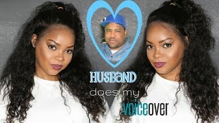 GRWM: HUSBAND DOES MY VOICEOVER| HILARIOUSSS