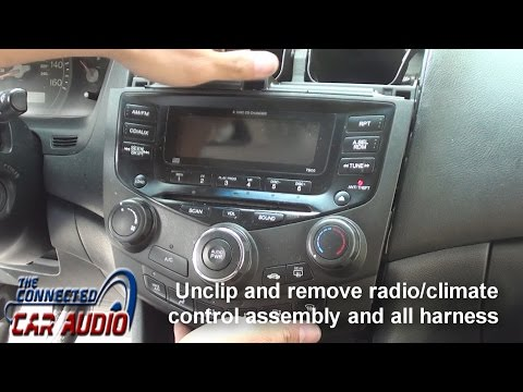 Remove factory stereo Honda Accord 2003-2007