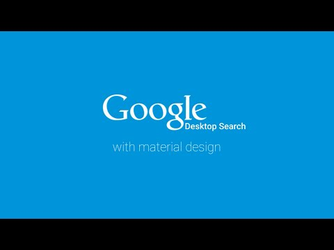 Google Desktop Search with Material Design (concept)