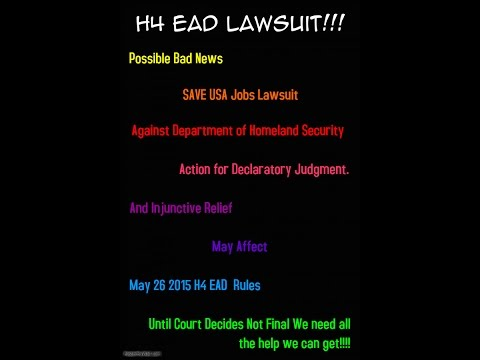 H4 EAD work permit - Possible Bad News - Breaking News April 25, 2015