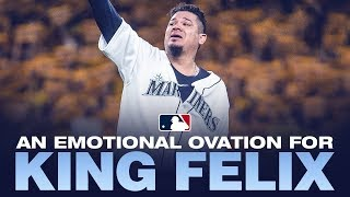 King Felix Hernandez pitches possibly last game for Mariners, gets huge ovation