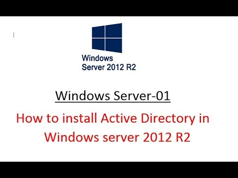 Windows sever-01 (How to install Active Directory in Windows server 2012 R2)