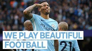 WE PLAY BEAUTIFUL FOOTBALL | Gabriel Jesus Reaction | City 7-2 Stoke