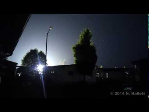 (Must see!) Lightning strikes transformer - Salem, Oregon - August 1st, 2014
