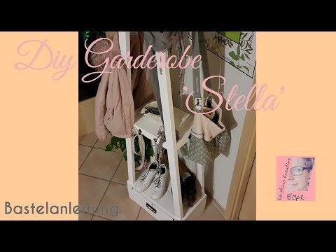 Diy Garderobe Stella | Garderobe selber bauen | Bastelanleitung | Diy aus Holz