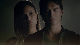 The Vampire Diaries: 8x02 - Sybil erases Elena in Damon's memories, Sarah Salvatores [HD]
