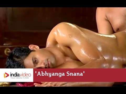 Ayurveda Oil Massage Abhyanga Snana Medicated Oil Panchakarma Kerala video