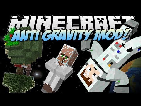 Minecraft   ANTI GRAVITY MOD! (Create your own PLANETS!)   Mod Showcase