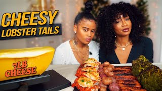 LOBSTER TAILS WITH 7LBS CHEESE MUKBANG (RACLETTE MUKBANG)