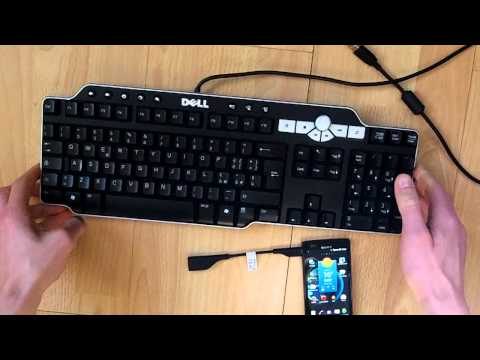 Sony Xperia P host USB OTG Contour Roam keyboard mouse