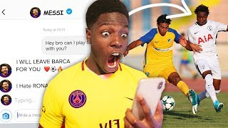 I Sent A DM To 100 FOOTBALLERS To Join MY Team & IT WORKED ft Neymar, Messi, Pogba