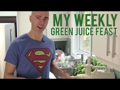 My Weekly Green Juice Feast video