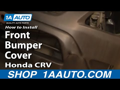 How To Install Replace Front Bumper Cover Honda CR-V 02-06 1AAuto.com