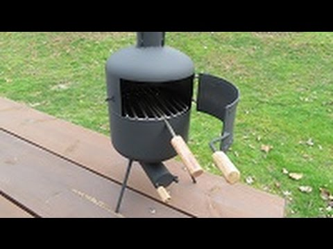 mini wood burning camp cook stove