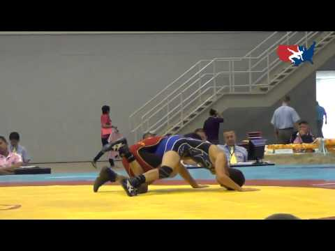 2012 Junior Worlds - FS 50kg - Adrian Cordova (USA) vs. Alireza Hatami (IRI)