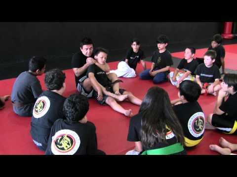 KKE SpyCam - Advanced Kids MMA Class - Steve Baca teaching the Rear Naked Choke - 8/29/12