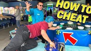 CHEATING at SeaWorld carnival games
