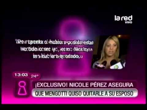 Exclusivo: Nicole Pérez asegura que Connie Mengotti quiso quitarle a su esposo