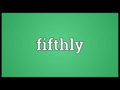Header of fifthly