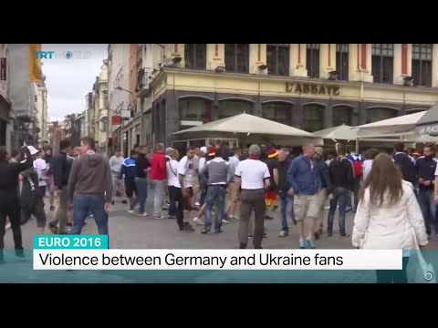 Violence between Germany and Ukraine fans, Sarah Morice reports