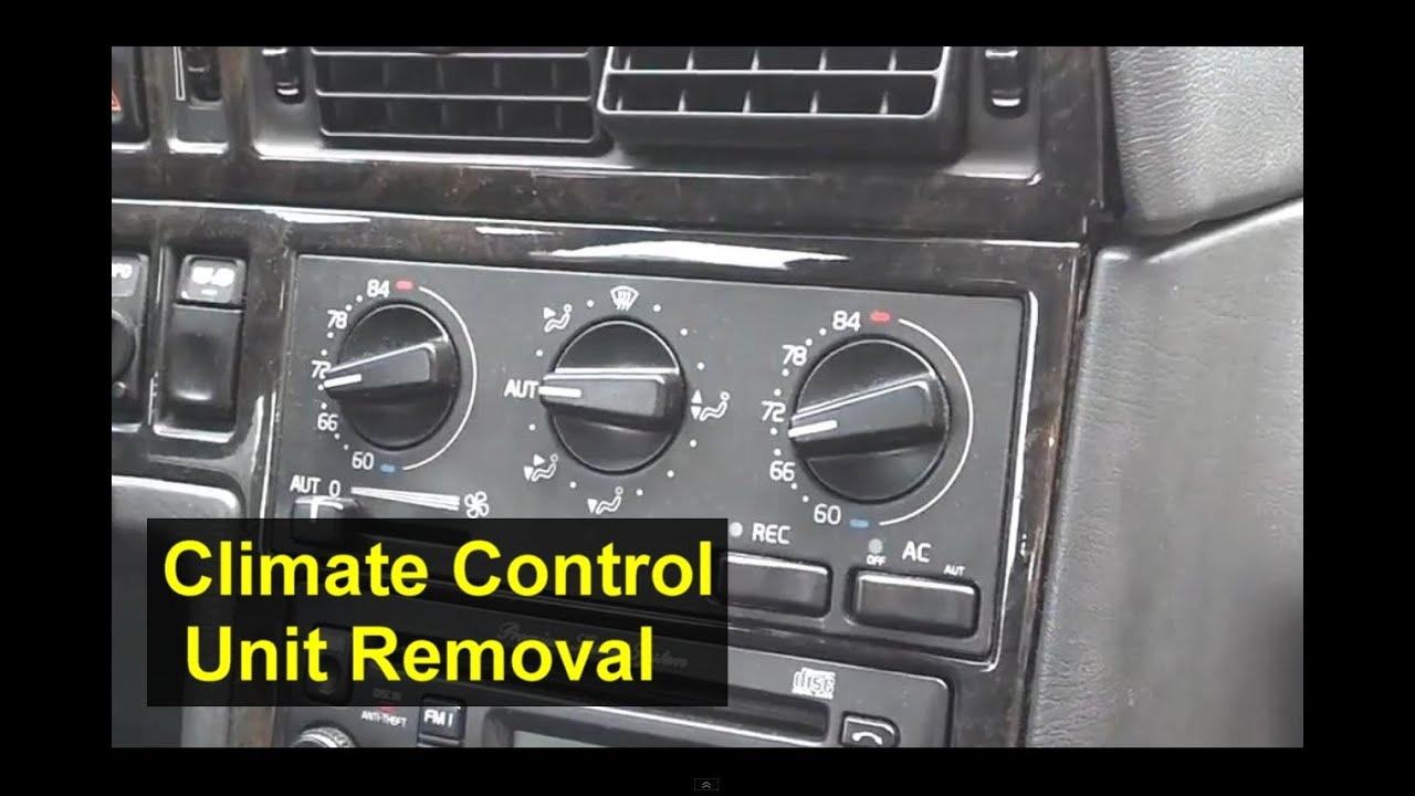 volvo ecc electronic climate control unit removal  850  s70  v70  xc70  v70r  s40  etc youtube Outside AC Unit Wiring Diagram Air Conditioner Wiring Diagrams