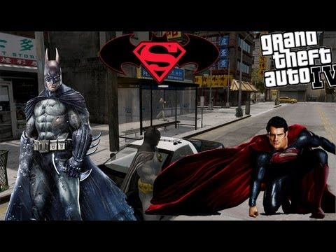 GTA IV LCPDFR Batman Mod Police Patrol - The New Batman & Superman Film 2015
