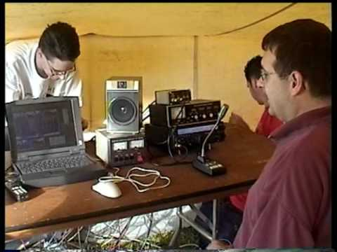 Ham radio amateurs satellite