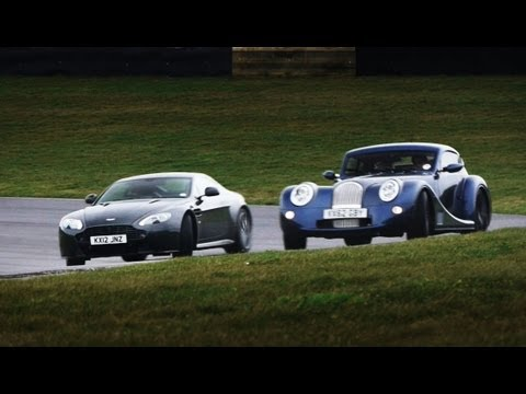 Showdown: Aston Martin V8 Vantage S vs. Morgan Aero Coupe – CAR and DRIVER
