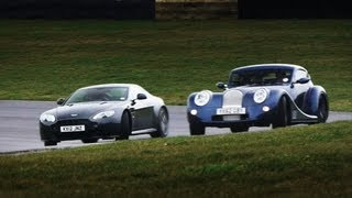 Showdown: Aston Martin V8 Vantage S vs. Morgan Aero Coupe - CAR and DRIVER