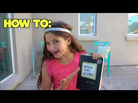 Watch me    Wreck this Journal ! #1