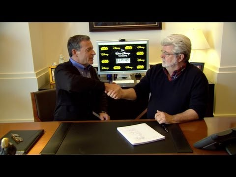 Disney Lucasfilm purchase, George Lucas and Bob Iger sign and discuss acquisition