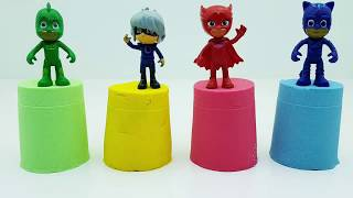 PRO Toys and Learn Pj Masks Wrong Heads Toys Learn Colors With Kinetic Sand Colorful Cups for kids
