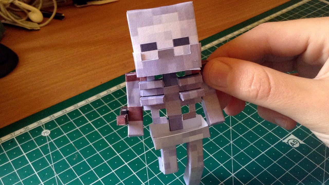 Как сделать голова скелет из бумаги