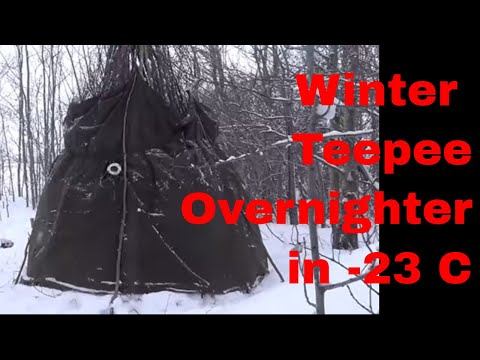 Winter Teepee Overnighter in -23C