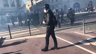 Gilets jaunes Acte 14   La manifestation Lyonnaise sous tension  Lyon 69   France 16 février 2019